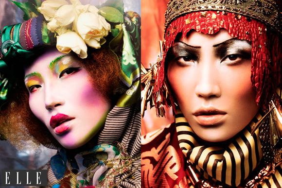 Make Up Stoel : Shine hair · make up · styling